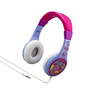 Trolls Kid Friendly Wired Headphones Volume Limited for Safe Listening for Kids