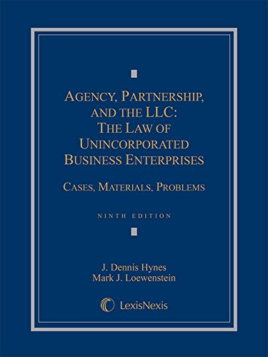 Pdf Law Agency, Partnership and the LLC: The Law of Unincorporated Business Enterprises, Cases, Materials, Problems (2015)