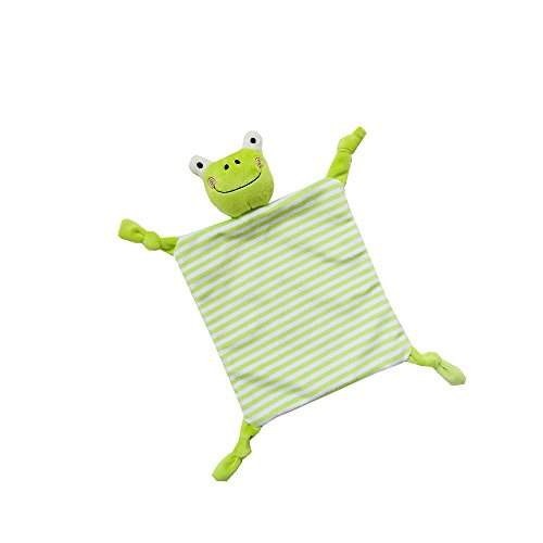 Frog Snuggler - INCHANT Security Blanket Toy - Comfort Blankie For Child, Infant, Toddler - Stuffed Animal Plush Blanket Best Gift For Baby,Green Frog