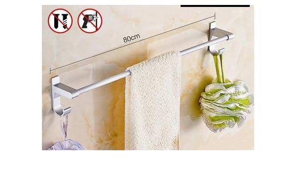 AtR Toallero para baño, Rack sin Perforaciones de aleación de Aluminio, para la decoración del baño, tamaño múltiple y Estilo múltiple Opcional (Tamaño: E): Amazon.es: Hogar