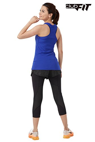 ClubFit Women's Ultra Light & Stretchy Cool Dry Anti bacterial Activewear Racerback Tank Top