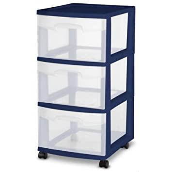 Sterilite  Drawer Plastic Medium Storage Cart With Ergonomic Handles Case Of  Ultra