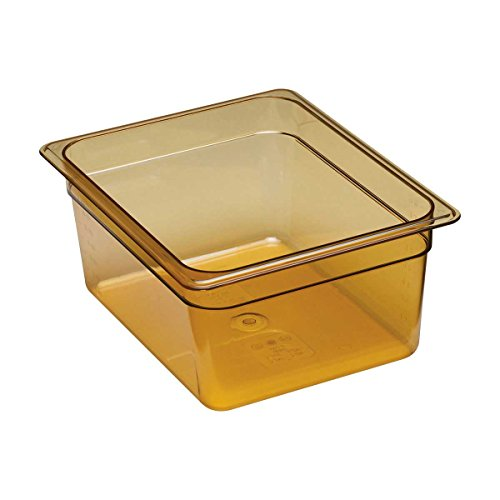 Cambro 26HP150 High Heat Half Size Food Pan in Amber (Case of 6) 6