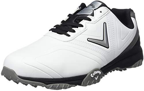 Callaway Men's Chev Comfort Golf Shoes, (White/Black), 8 UK