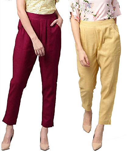 AOSIKATE Trouser Pants for Women Western/Trousers Regular Combo