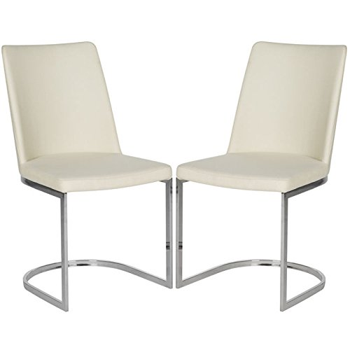 (Safavieh Home Collection Parkston Linen Beige Glam Side Chair (Set of 2))