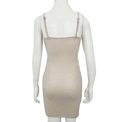 Sexy Manches Femme Malloom fte Package Hip Neck de Robe V sans d't RwEXYx1q