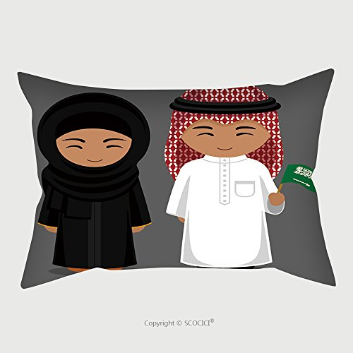 Diy Female Superman Costume (Custom Microfiber Pillowcase Protector Travel To Saudi Arabia People In National Dress With A Flag Man And Woman In Traditional Costume 494297059 Pillow Case Covers Decorative)