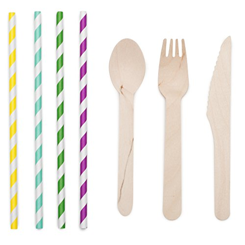 Wooden Disposable Cutlery Set of 300 pcs