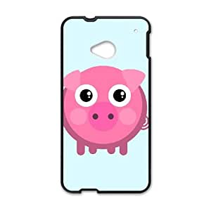 HTC One M7 Cell Phone Case Black Piggy F1O6C