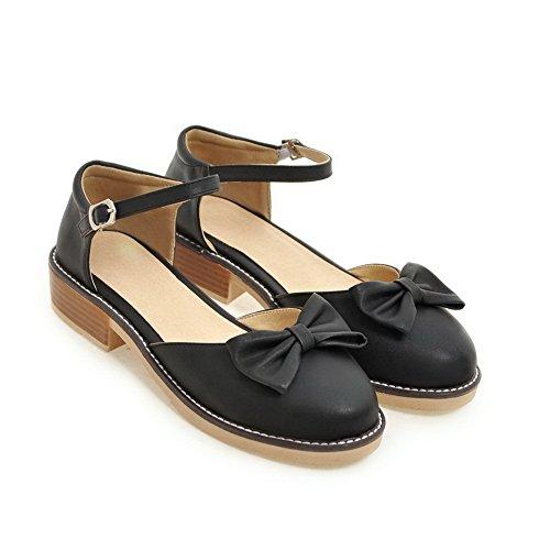 BalaMasa Womens Sandals Closed-Toe Huarache Dress Urethane Sandals ASL04448 Black jZW9kZvts