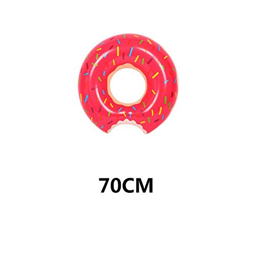 Rainbowkids Swimming Ring Inflatable Floats Pool Swimming Float For Adult, Floats inflatable donut Swim Ring Water Sports Toy With a Free Inflator Pump Gift (s, Red)