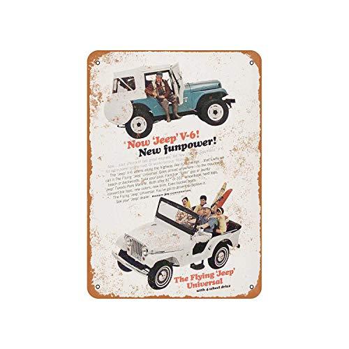 Fhdang Decor Vintage Pattern 1965 Kaiser Jeep Tuxedo Park Mark Iv Vintage Look Aluminum Sign Metal Sign,6x9 Inches