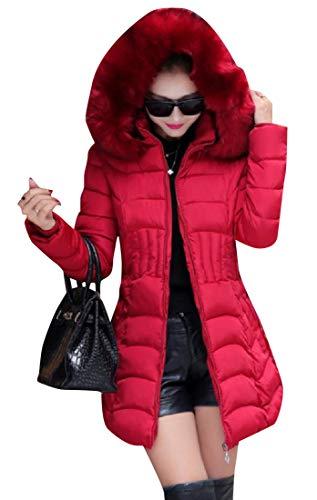 Padding Jacket Longline with Anorak XINHEO 1 Fuzzy Womens Pockets zwBqFntT