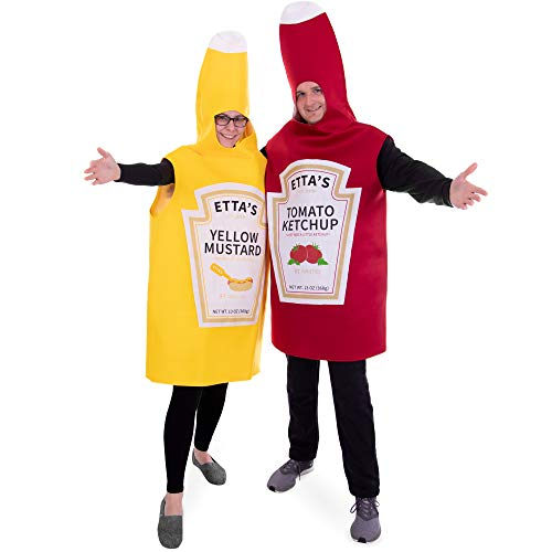 Ketchup and Mustard Couple's Halloween Costume | Funny Food]()