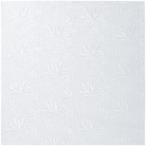 White Foil Oasis Supply Square Cake Drum 16-Inch