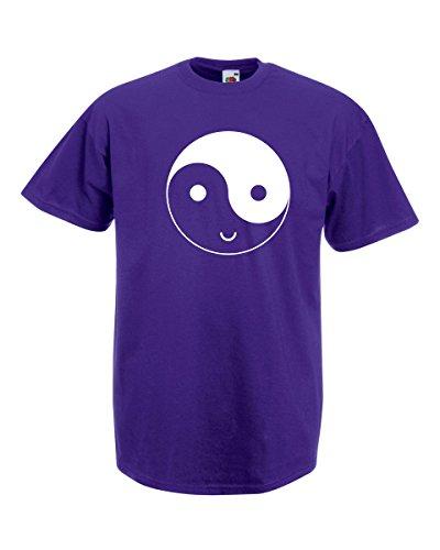 Drôle Yingyang Visage Et Cadeau T Décalque Yang Sourire Yin Avec Éthique Symbole shirt Gratuit Heureux Modèle Hommes Pourpre 00qUO7
