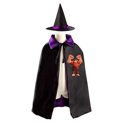 Wreck-It Ralph Halloween Costumes Decoration Cosplay Witch Cloak with Hat (Black)