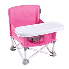 The Summer Infant Pop N' Sit Portable Booster supports on-the-go lifestyles and makes feeding time easy with a removable, BPA-free tray, innovative pop and fold set-up, and over the shoulder carrying bag. With its lightweight design and compa...