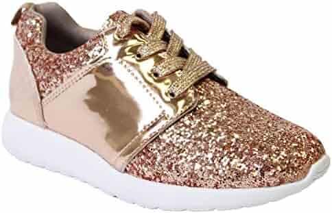 ❤️Rolayllove❤️ 18M-6Y Girls Sandals Open Toe Princess Flat Flashing Sandals Toddler Beach Dress Shoes