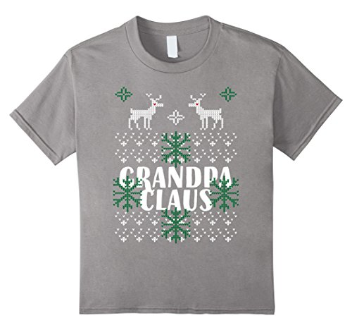 Kids Grandpa CLAUS Ugly Christmas Outfit TShirt for you G...