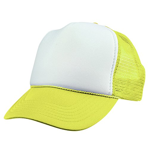 DALIX Youth Mesh Trucker Cap - Adjustable Hat (Comes in 8 Colors) ()
