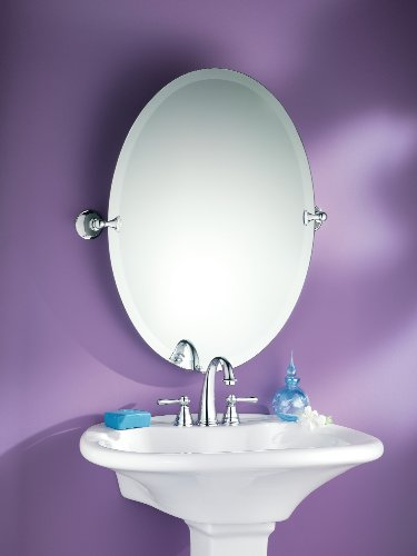 Moen dn2692ch glenshire bathroom oval tilting mirror for Where can i buy bathroom mirrors