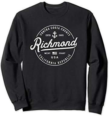 NAUTICAL Anchor Richmond California Travel Vacation Sweatshirt