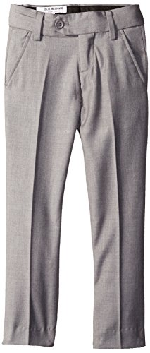 - Isaac Mizrahi Little Boys' Slim Wool Blend Slim Pant, Light Grey, 6