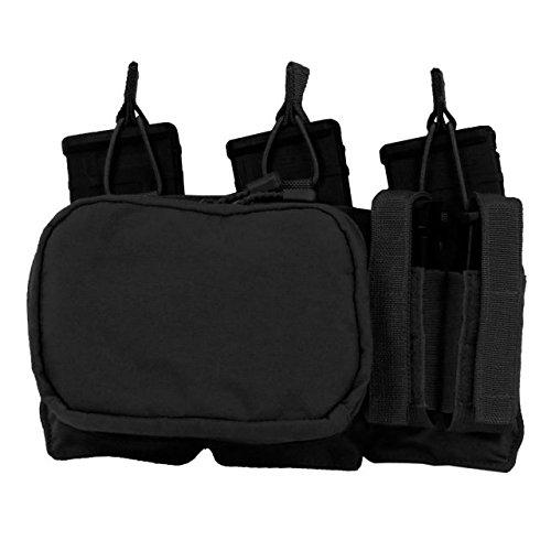 Tactical Assault Gear MOLLE Triple Mag/Pistol/Utility Pouch, Black 832605 by Tactical Assault Gear