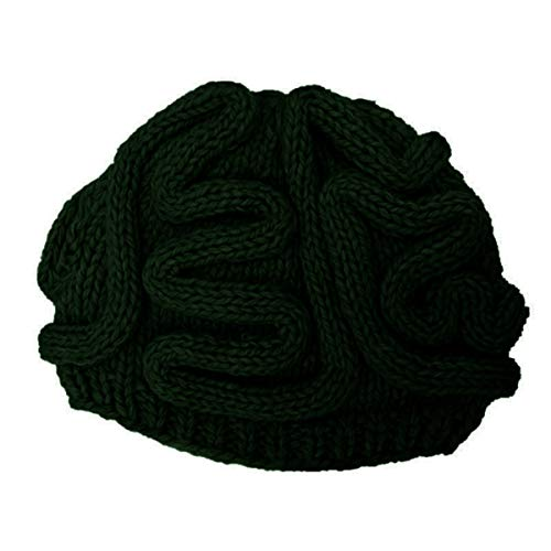 ECYC Men Knitted Brain Hat Halloween Cosplay Hats Crochet Beanie Cap, Dark Green ()