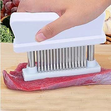 Black Fish Beef Pork Meat Tenderizer,littlejian Needle Professional Cookware Tool,48 Ultra Sharp Stainless Steel Blades for Tenderizing Steak Chicken