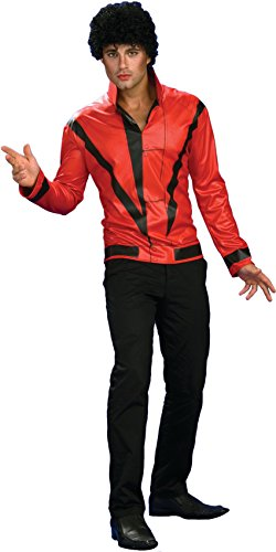 Rubie's Costume Co Michael Jackson Adult Costume Red & Black Thriller Jacket - Large