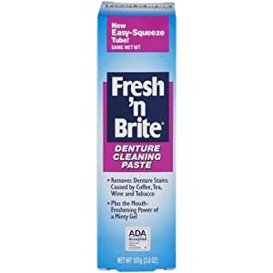 Fresh'n Brite  Denture Cleaning Paste cleans and deodorizes your dentures, mouthguards, and nightguards. 3.8 oz. tube.  ( pack of 6 )