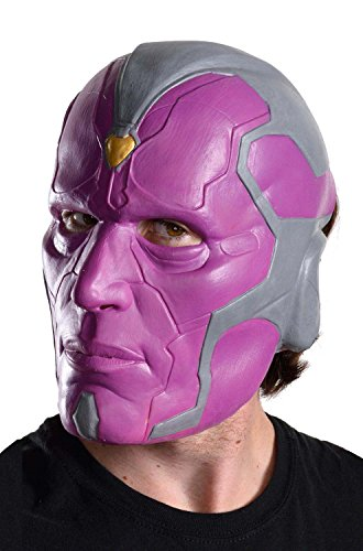 [Rubie's Costume Co Men's Avengers 2 Age Of Ultron Adult Vision 3/4 Mask, Multi, One Size] (Ultron Halloween Costumes)