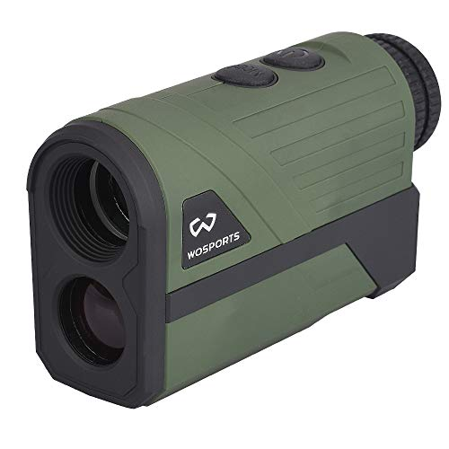 Wosports Hunting Rangefinder, Laser Speed Measure Range Finder, 6X Magnification/High Accuracy/Long Horizontal Distance for Hunting Speed, Scan and Normal Measurements