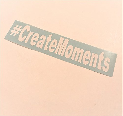 Create Moments | White Vinyl decals | Hashtag custom word art (Custom Art Word)
