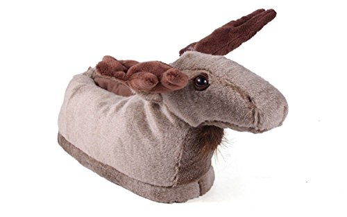 Happy ANIMAL and Feet PREMIUM Womens FOOT 50 FULL Mens Moose STYLES SLIPPERS qxwz6HR0I