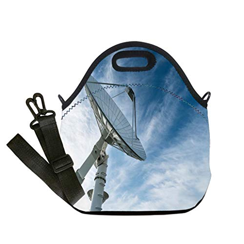 Insulated Lunch Bag, Reusable Outdoor Travel Picnic School Radio telescope Student Company School, Multicolor, Adults and Children