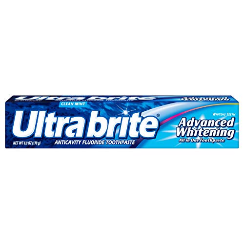 Toothpaste Whitening Extra Clean Mint (Ultra Brite Advanced Whitening Toothpaste, Clean Mint, 6 Ounce)