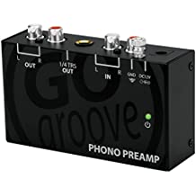 Mini Turntable Phono Preamp for Bookshelf Speakers by GOgroove - Preamplifier Connects to AOMAIS , Edifier , Klipsch , Mackie , Micca , Pioneer , Sony , Monoprice and More Bookshelf Speakers