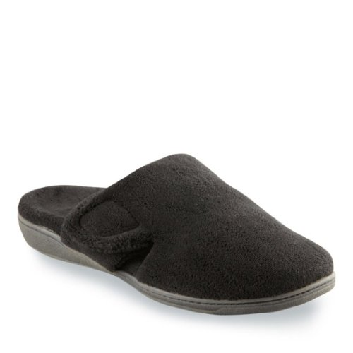 Vionic with Orthaheel Technology Women's Gemma Slipper,Black,US 9 - Orthaheel Womens