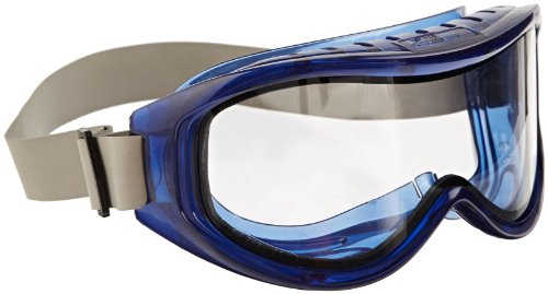 Goggles Chemical Safety Splash - Sellstrom S80201 Odyssey II Indirect Vented Dual Scratch-Resistant Anti-Fog Clear Lens Chemical Splash Goggle, Safety Goggle, Blue