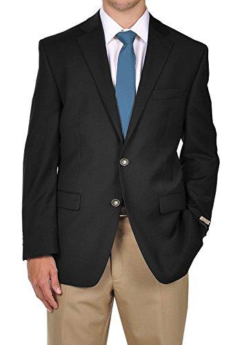 Ralph Lauren Mens Blazer (Men's Ralph Lauren Blazer in Black with Silver Accent Buttons,Jacket 40 Regular)