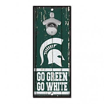 NCAA Michigan State Spartans 5x11 Wall Hanging Bottle - Spartans Michigan State Wall