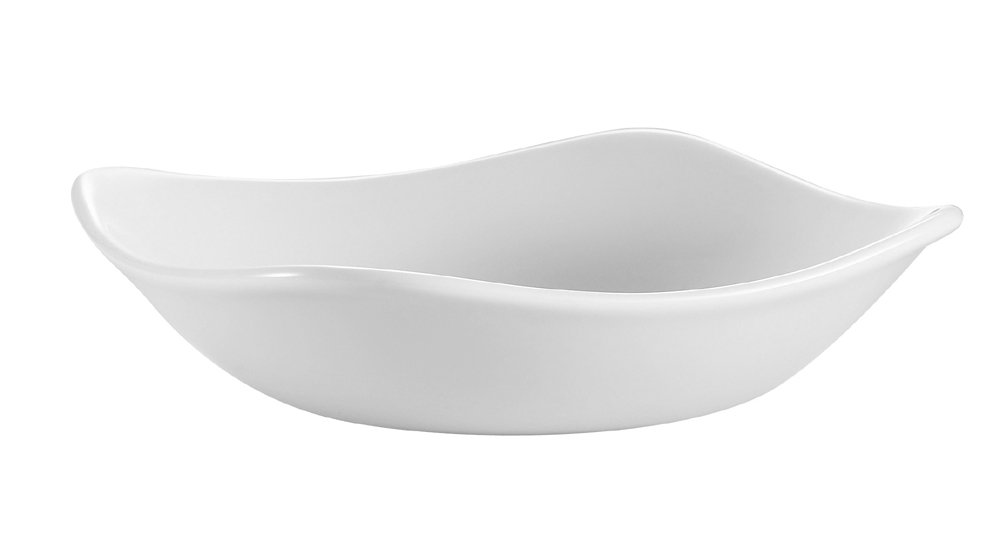 CAC China COP-B7 Coupe 7-Inch 16-Ounce Super White Porcelain Square Bowl, Box of 36