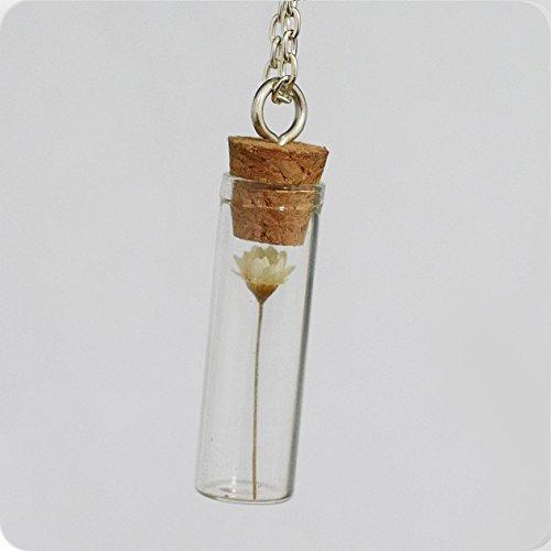 Terrarium Vial Necklace // Dried Flower Necklace // Terrarium Jewelry // Bridesmaid Necklace
