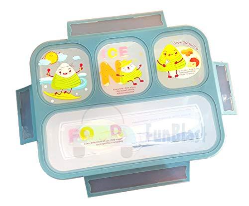 FunBlast Grid Lunch Box for Kids, Leak Proof Lunch Box for School, bento Lunch Box , 1000 ML - Green
