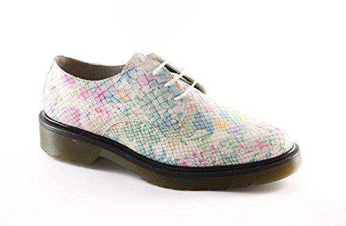 print Gemma leather 1398 scales shoes flowers flower laces Multicolore woman GEM 6r6qp0n