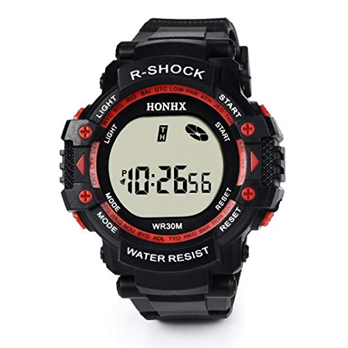 Axiba Men's LED Waterproof Digital Quartz Military Luxury Sport Electronic Quartz Outdoor Stopwatch Alarm Army Watch ()